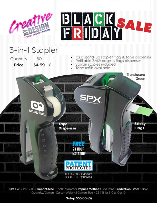 Black Friday 3-in-1 Stapler